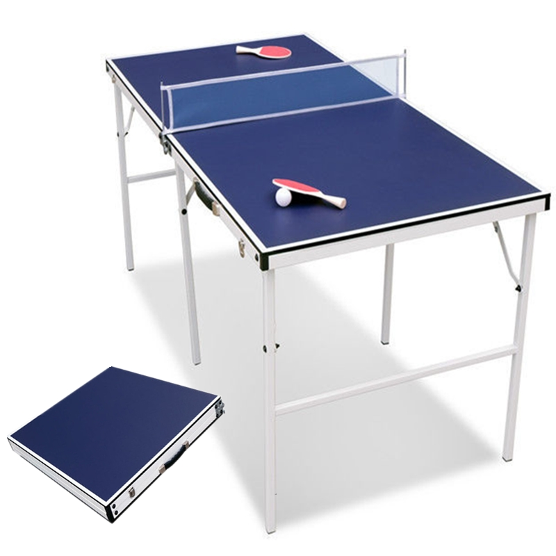 5ft Portable Folding Table Tennis Ping Pong Table With Net Set Indoor Sport  Game