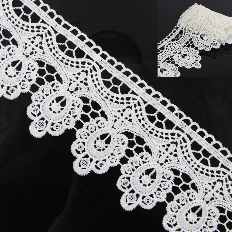 Off White Crochet Floral Sew On Applique