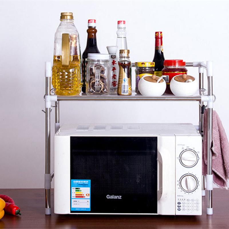 New Kitchen Bakeru0027s Rack Microwave Oven Stand Storage Cart Workstation Shelf