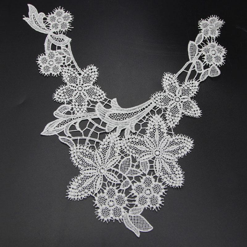 Floral Crochet Lace Collar Venise Sewing Applique Guipure Patch Trim
