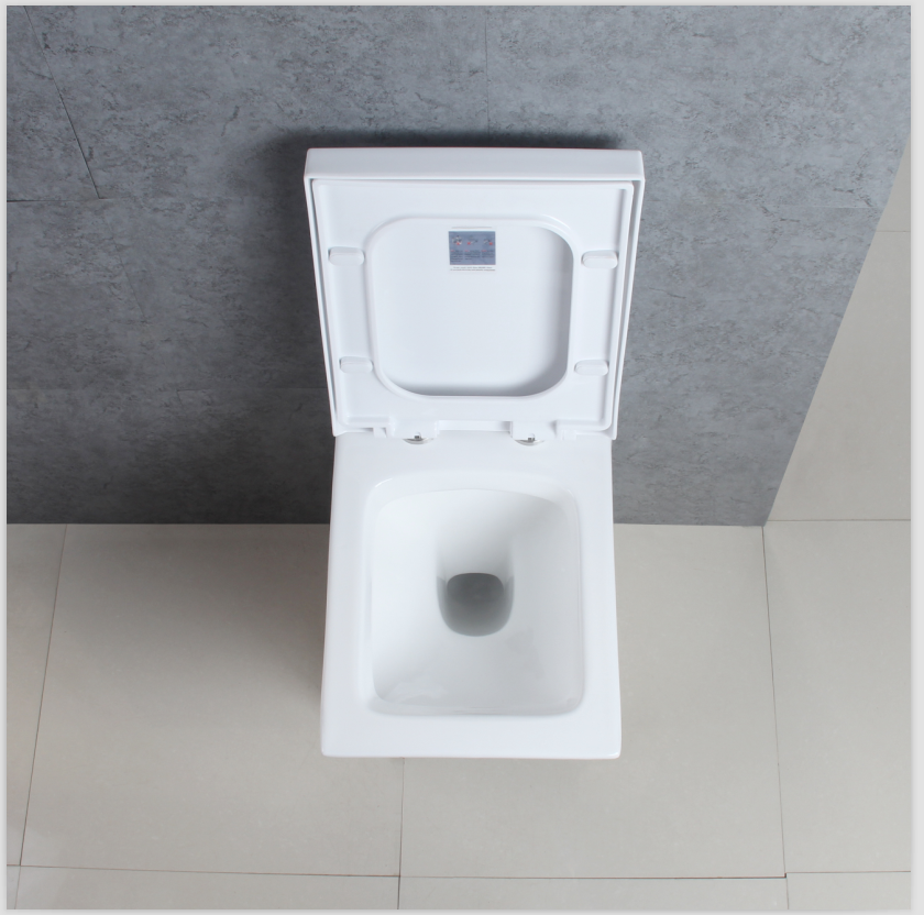 Bathroom Ceramic Square Wall Mounted White Toilets Seat With Toilet ...