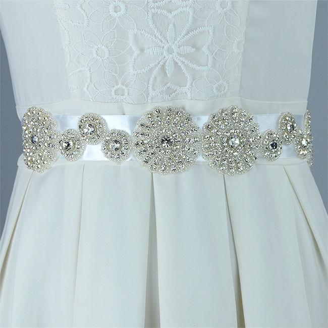 Wedding Bridal Dress Bead Crystal Rhinestone Belt Sash Waistband DIY ...