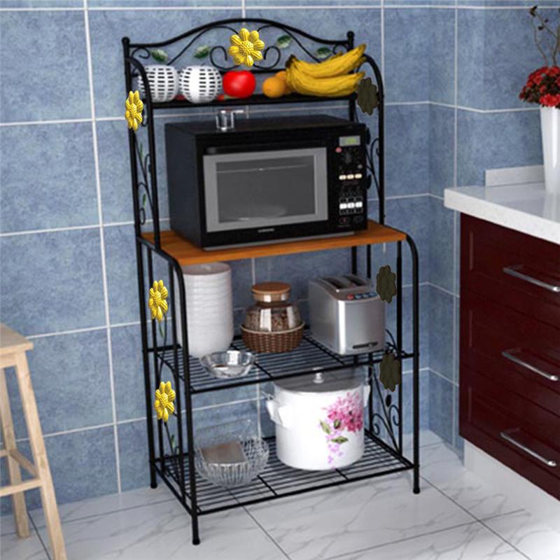 Home Kitchen Baker S Rack Utility Microwave Stand Storage Cart Workstation Shelf
