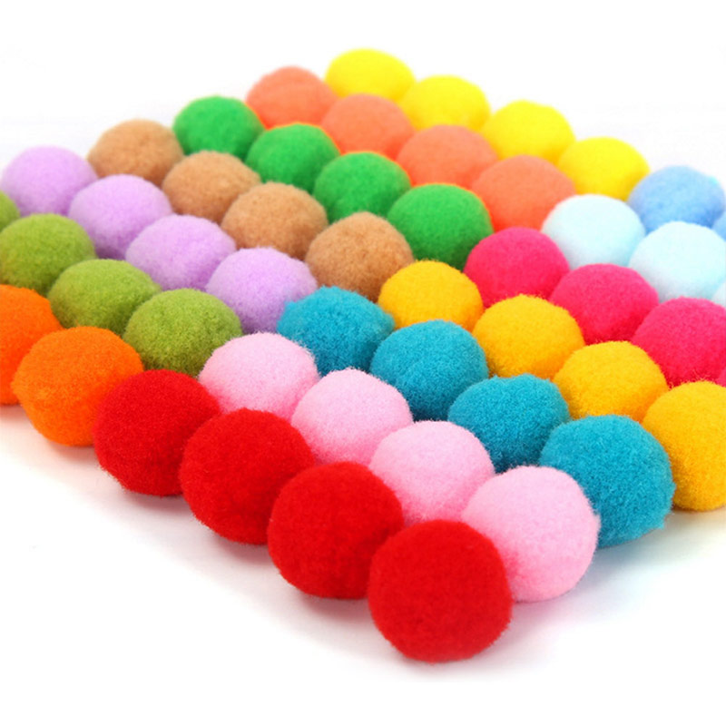 2000 x Pompoms zum Basteln Bommel 1 cm mini Pompon bunt kleine Pom Pom Kugeln