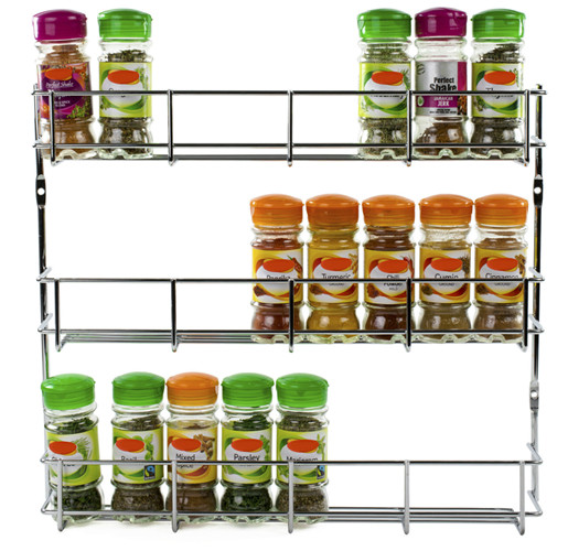 Kitchen Cabinet Spice Rack Organizer: Spice Rack Cabinet Organizer Wall Mount Storage Kitchen