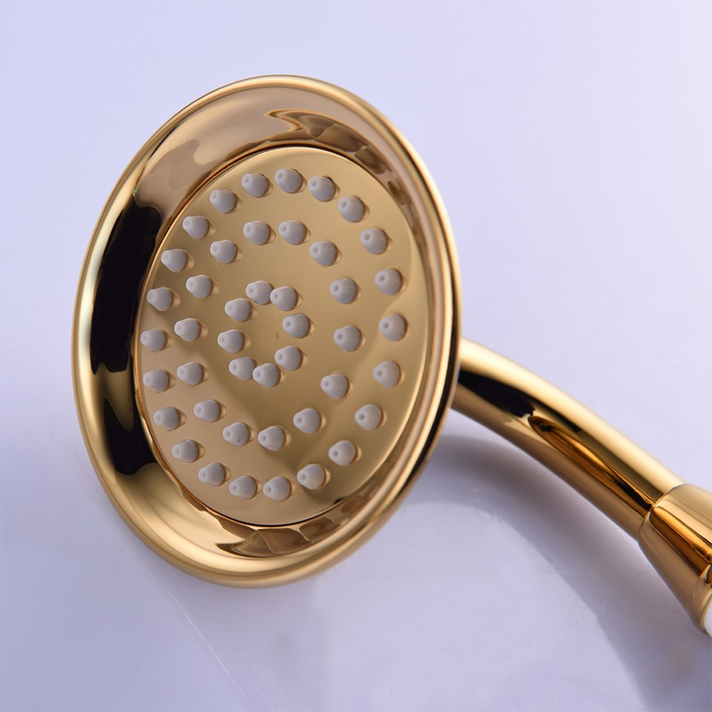 Retro Brass Shower Head Gold Water Save Telephone Handheld Sprayer ...