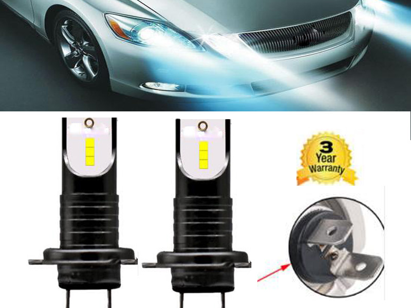 2x h7 led ampoule voiture feux lampe kit phare light blanc. Black Bedroom Furniture Sets. Home Design Ideas
