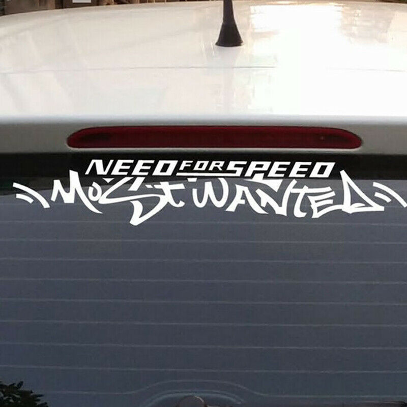 4 pcs Need For Speed Most Wanted Logo Car SUV Truck Window Body Sticker Decal