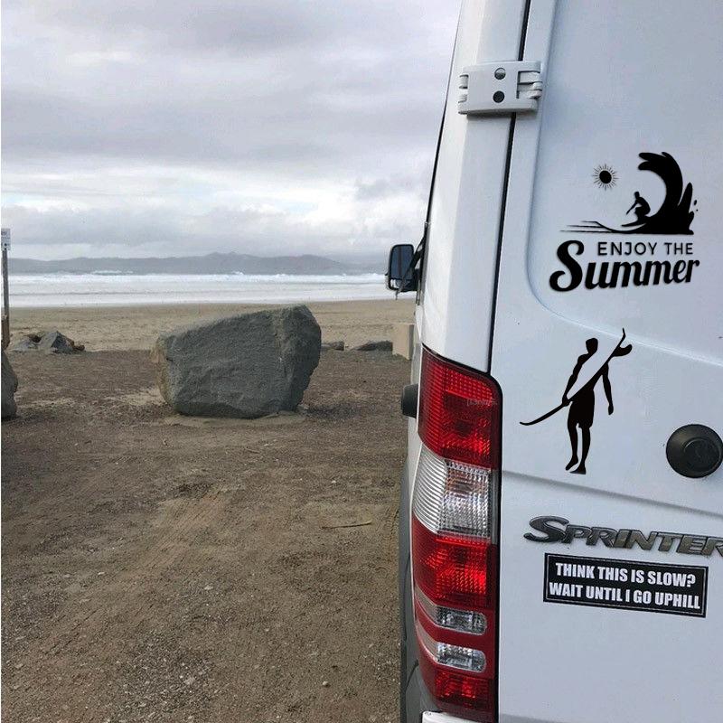 Brave Adventurers Strong Surf Go Surfing Car Sticker Decal Waterproof 10*13cm