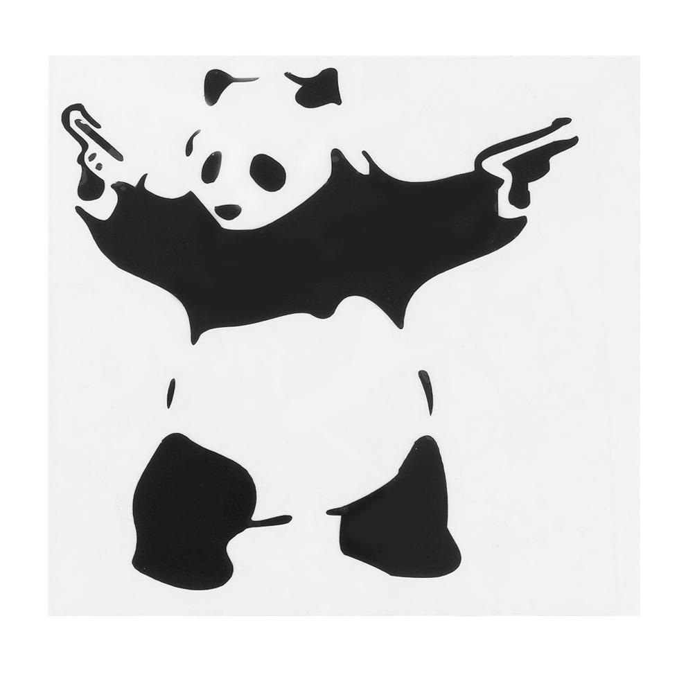 Panda With Two Guns Car Sticker Funny Window Vinyl Wall Decal Bumper Truck Decal