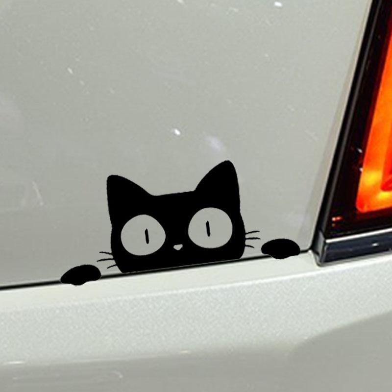 Surprise Cat Peek CAT PEEPING Funny Car Sticker Vinyl Decal Motorcycle Laptop