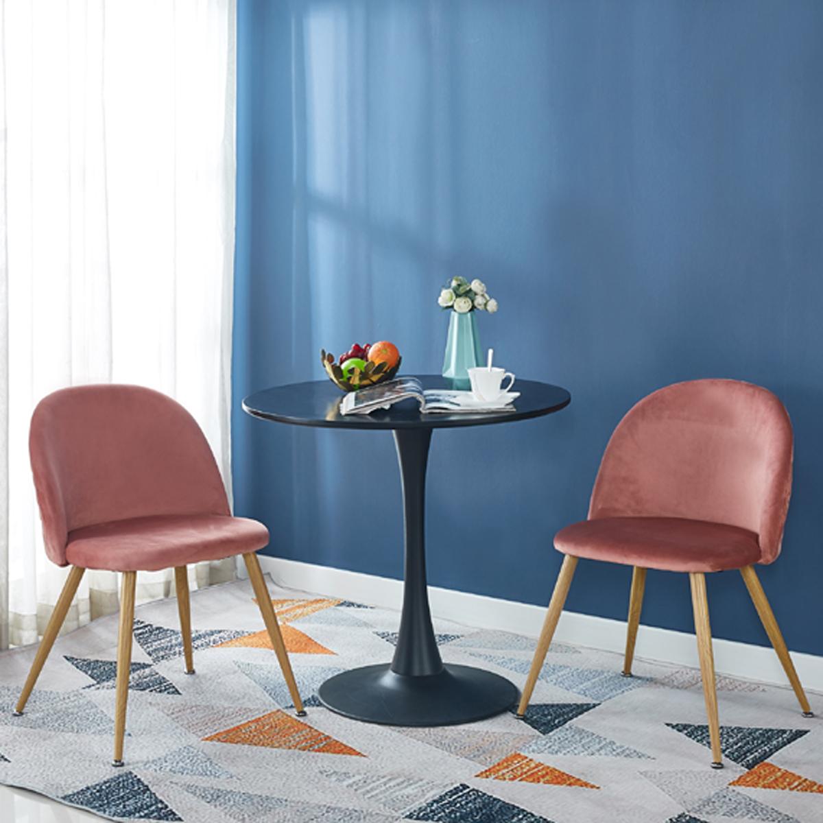 Dining Chairs Wood Metal Legs