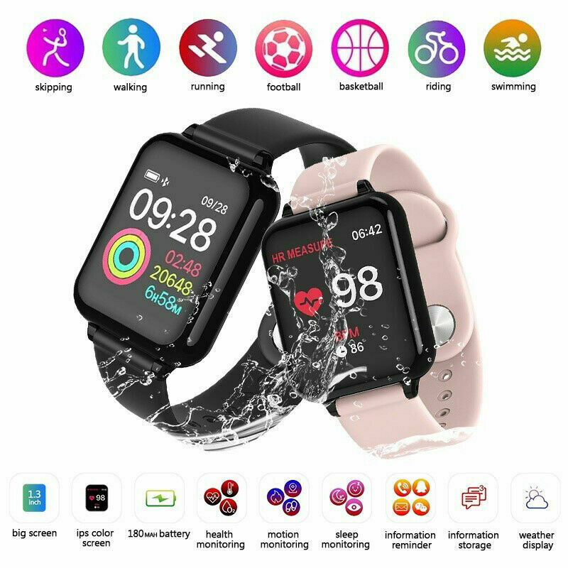 1x Women&Girl Waterproof Bluetooth Smart Watch Phone Mate Fo