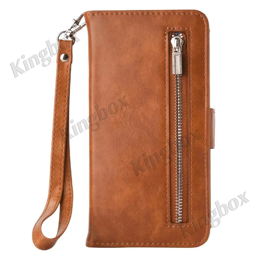 iphone flip phone flip luxury leather wallet zipper card removable 9660