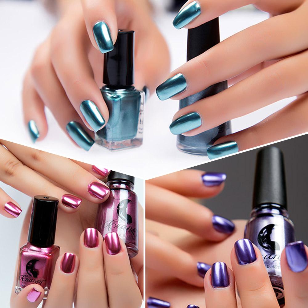 Lady Multi-Color Metallic Nail Polish Magic Mirror Effect Chrome ...