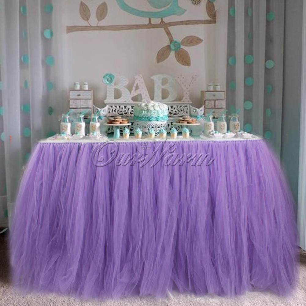 Lavender TUTU Tulle Table Skirt 3139 Wedding Baby Shower Birthday Decor