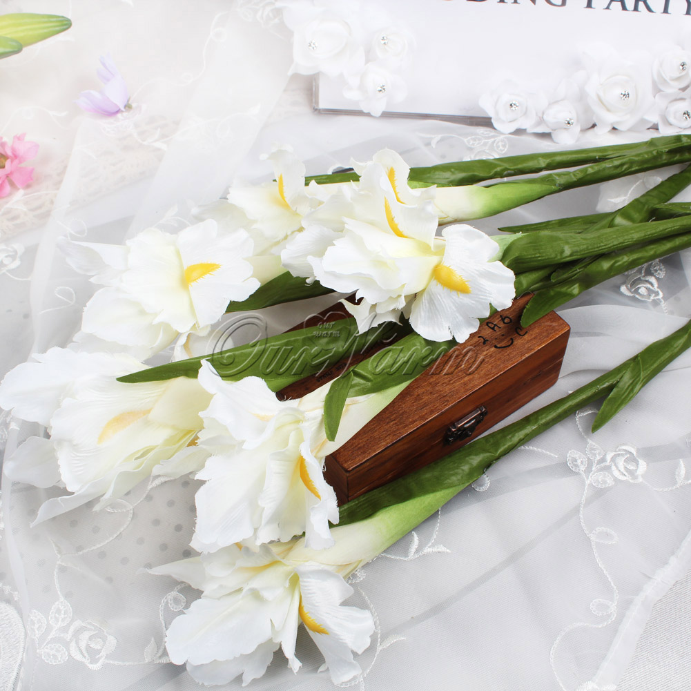Home Gorden Vase Decor Beautiful Artificial Flowers Plants Iris