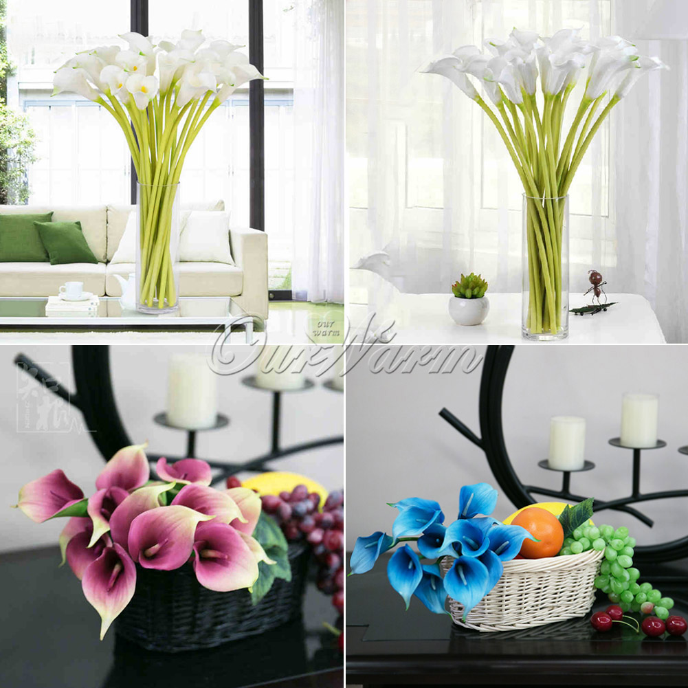 12artificial real touch calla lily fake flowers wedding home garden 12artificial real touch calla lily fake flowers wedding home garden diy flower izmirmasajfo