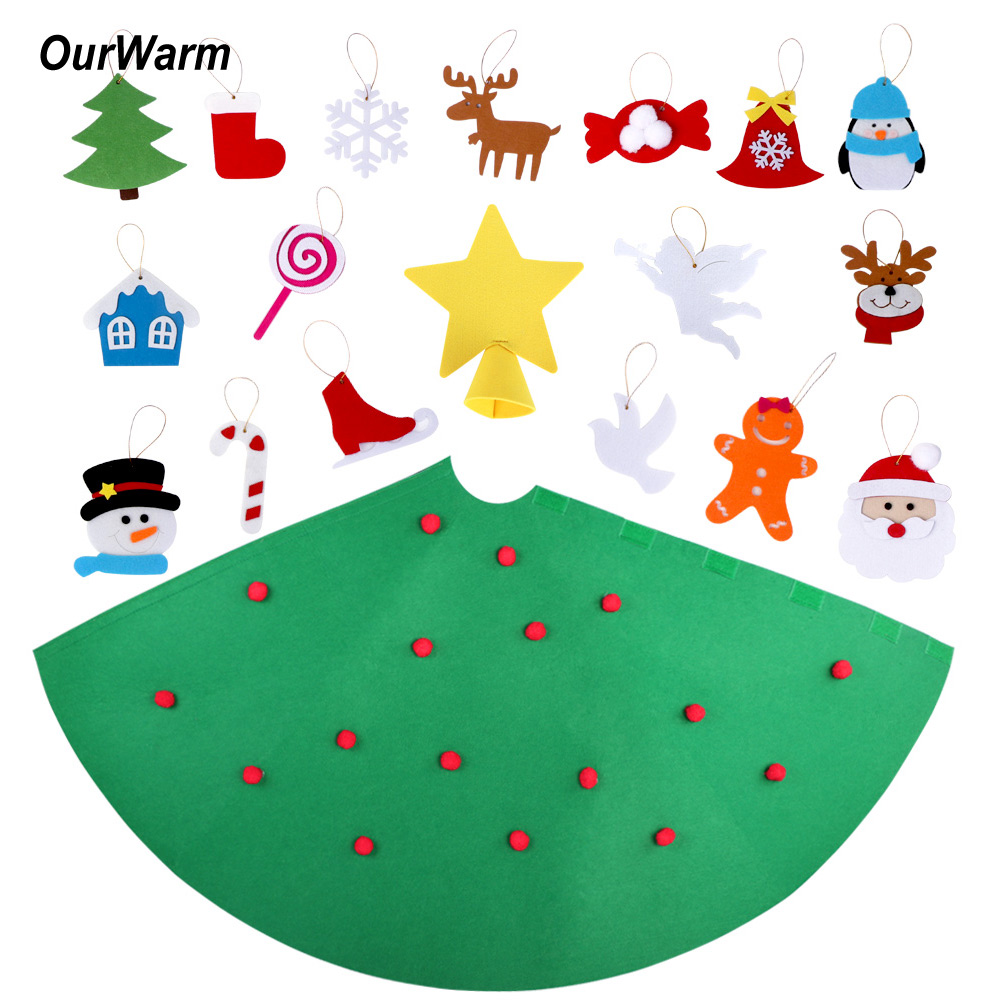 3d Christmas Tree Pattern: 3D Cone Craft Felt Christmas Tree For Toddlers Preschool