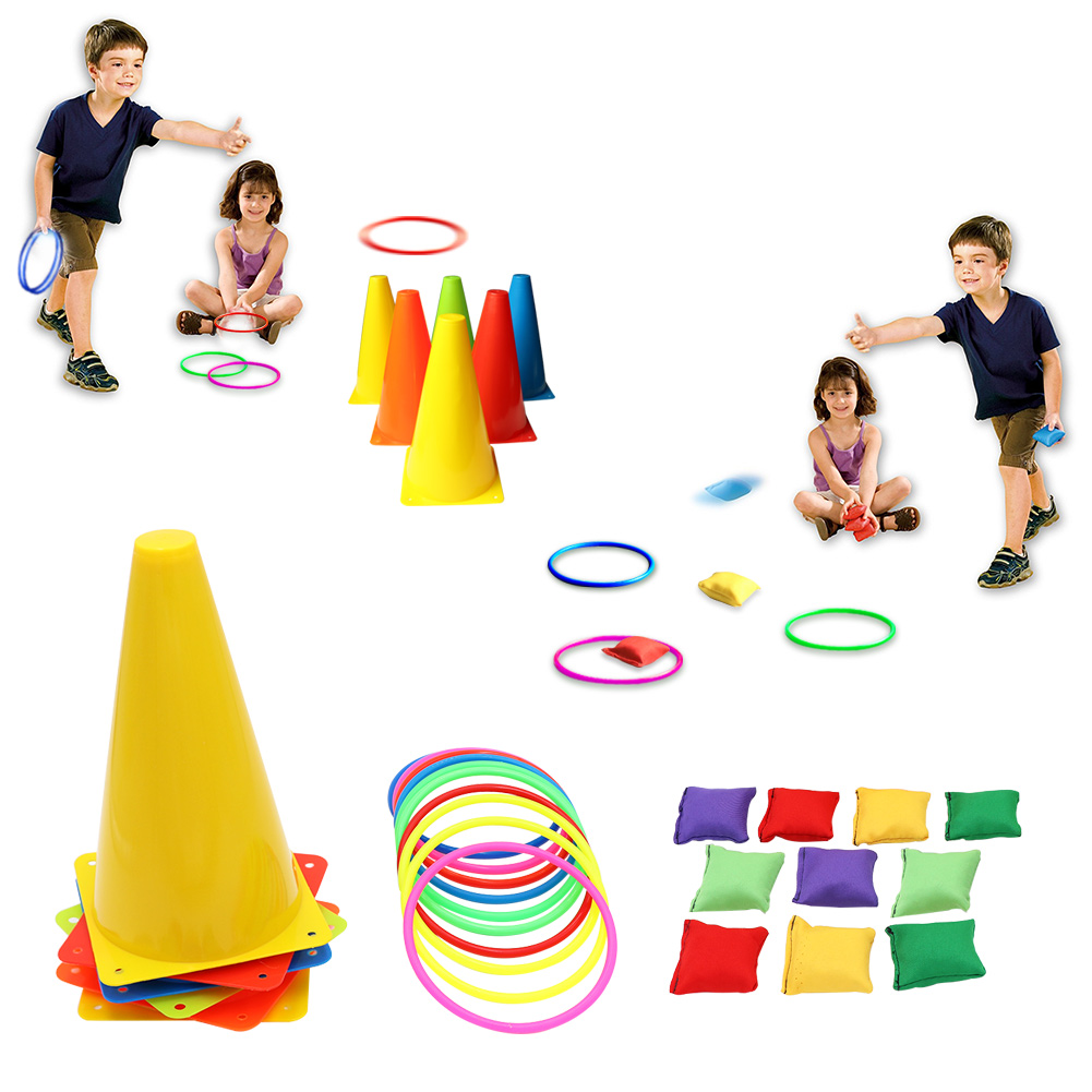 3 In 1 Party Family Games Set Soft Traffic Cone Bean Bags