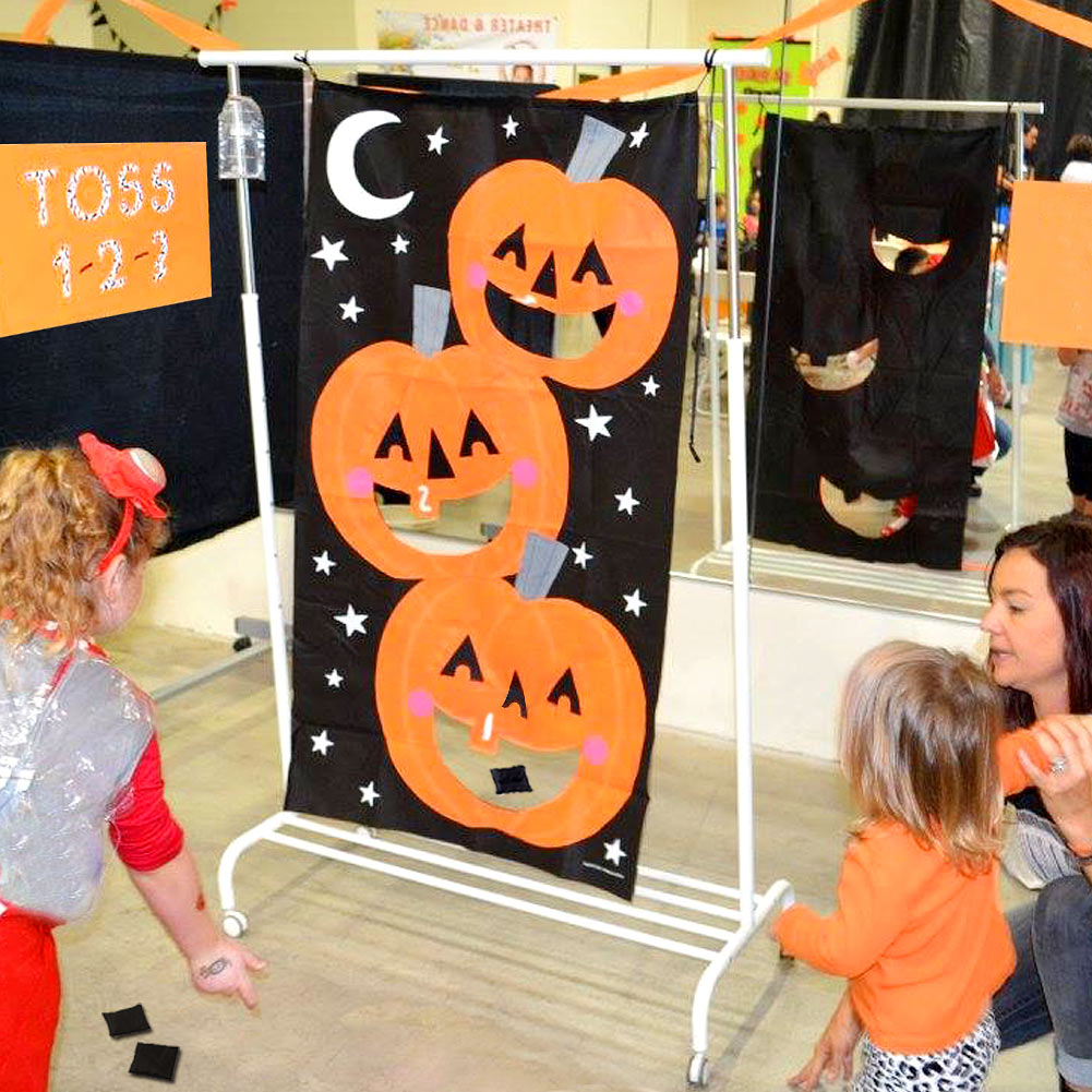 Pleasant Details About Ourwarm Hanging Pumpkin Bean Bag Toss Indoor Outdoor Halloween Party Games Onthecornerstone Fun Painted Chair Ideas Images Onthecornerstoneorg