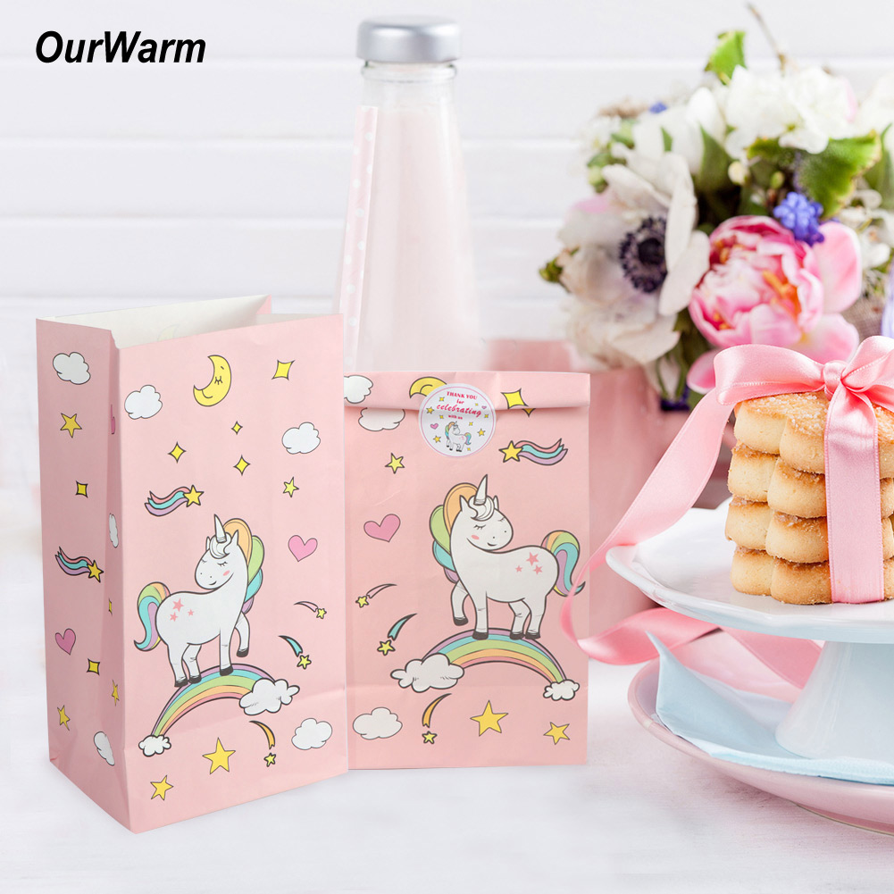 12pcs Unicorn Paper Gift Bags Unicorn Kid Birthday Party Wedding ...