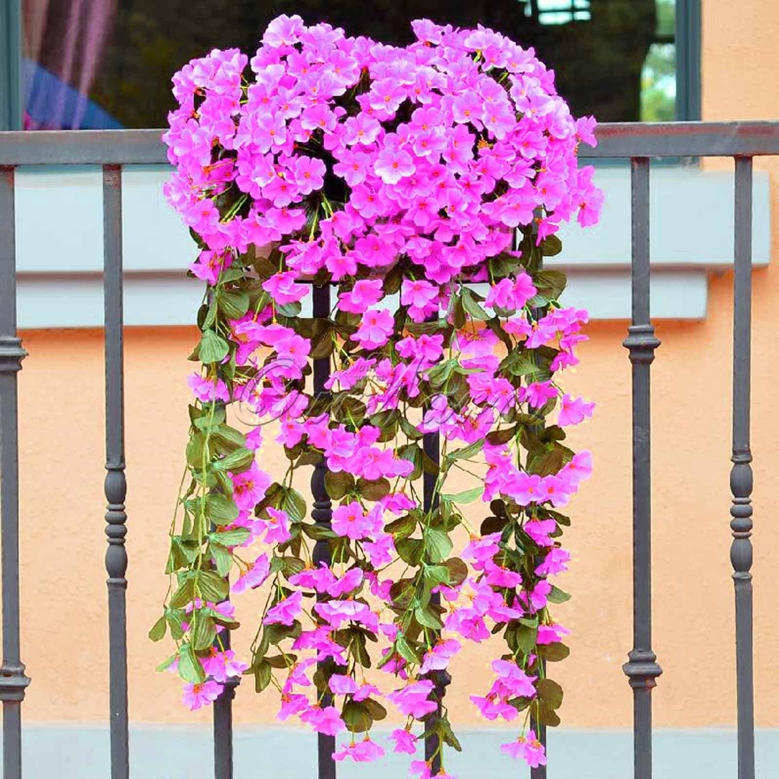 5hanging flower garland artificial violet flower wall wisteria vine 5hanging flower garland artificial violet flower wall wisteria vine flower mightylinksfo