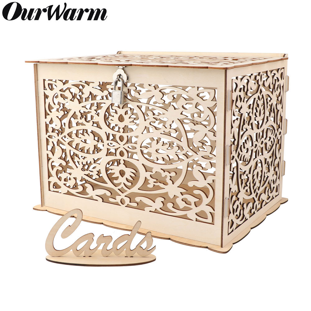 Post Wedding Gifts: Wooden Wedding Card Post Box With Lock Collection Gift