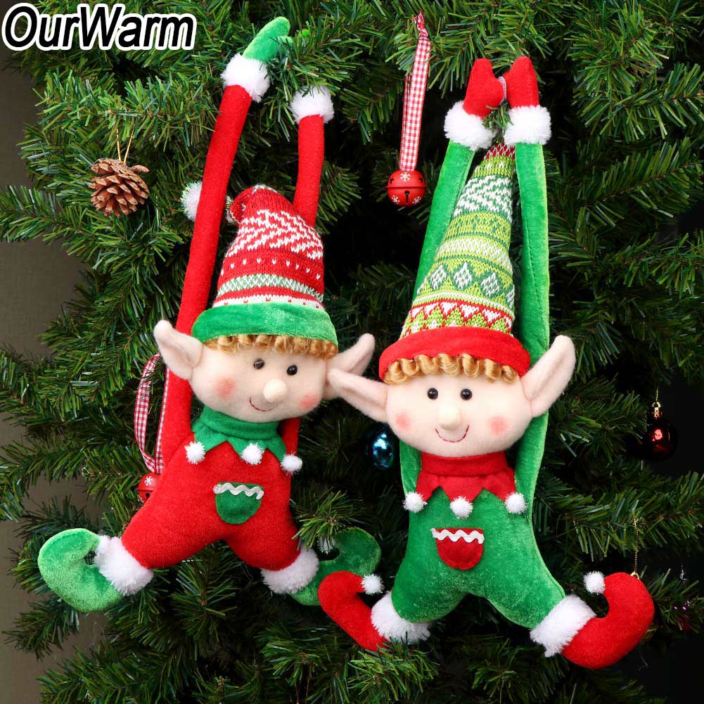 Christmas Elves.Details About Christmas Elves Plush Elf Dolls Christmas Tree Ornaments Pendant Xmas Gift Toys
