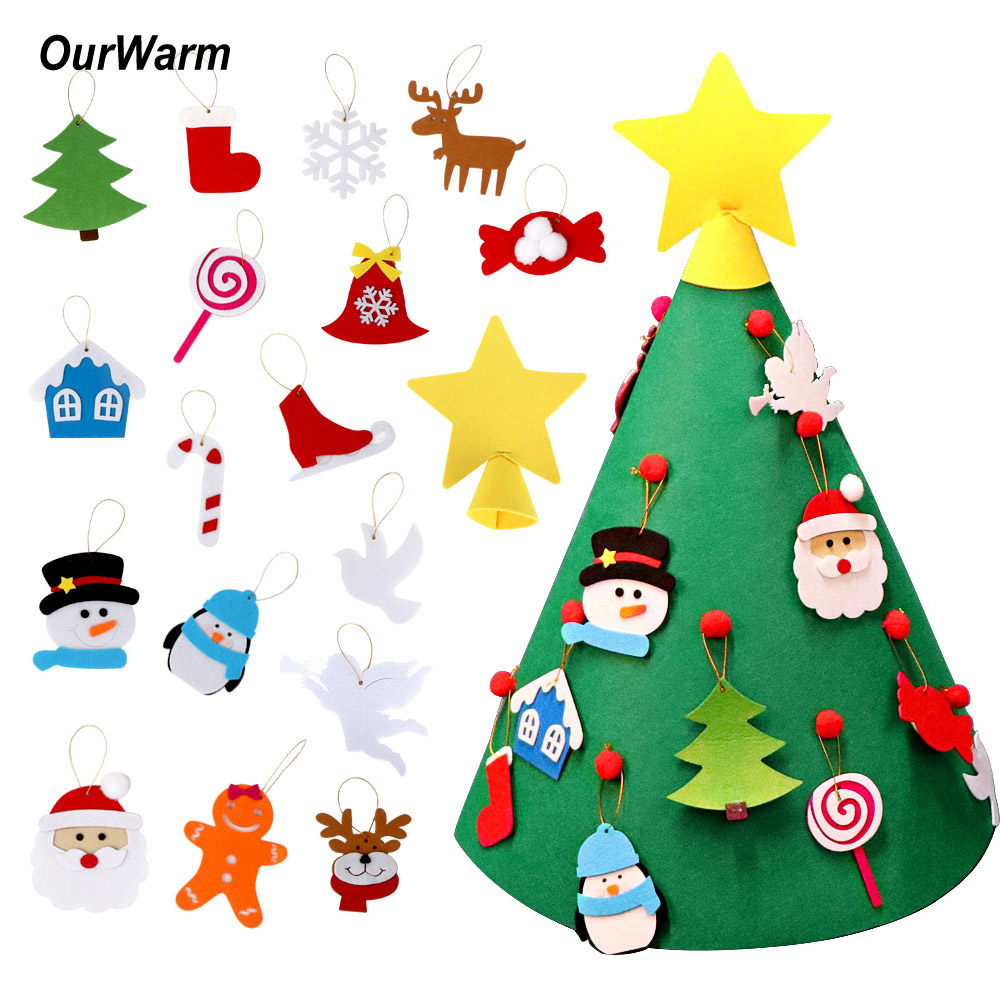 3D Cone Craft Felt Christmas Tree for Toddlers Preschool ...