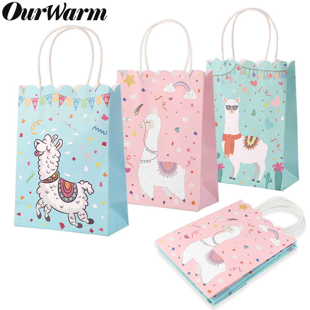 Details About 5 Llama Party Supplies Tote Gift Bags Birthday Baby Shower Favor