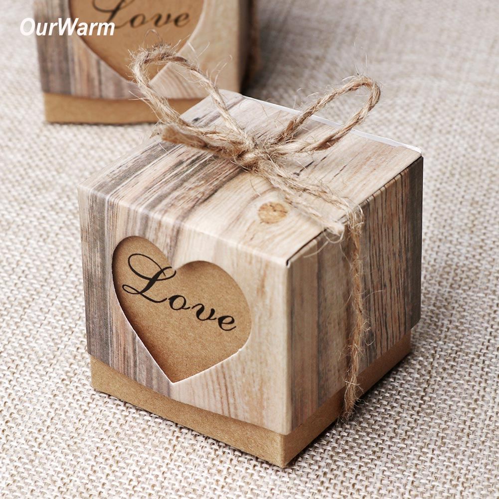 2//20//50Pcs Hollow Love Heart Favor Ribbon Gifts Box Candy Wedding Sweet Boxes