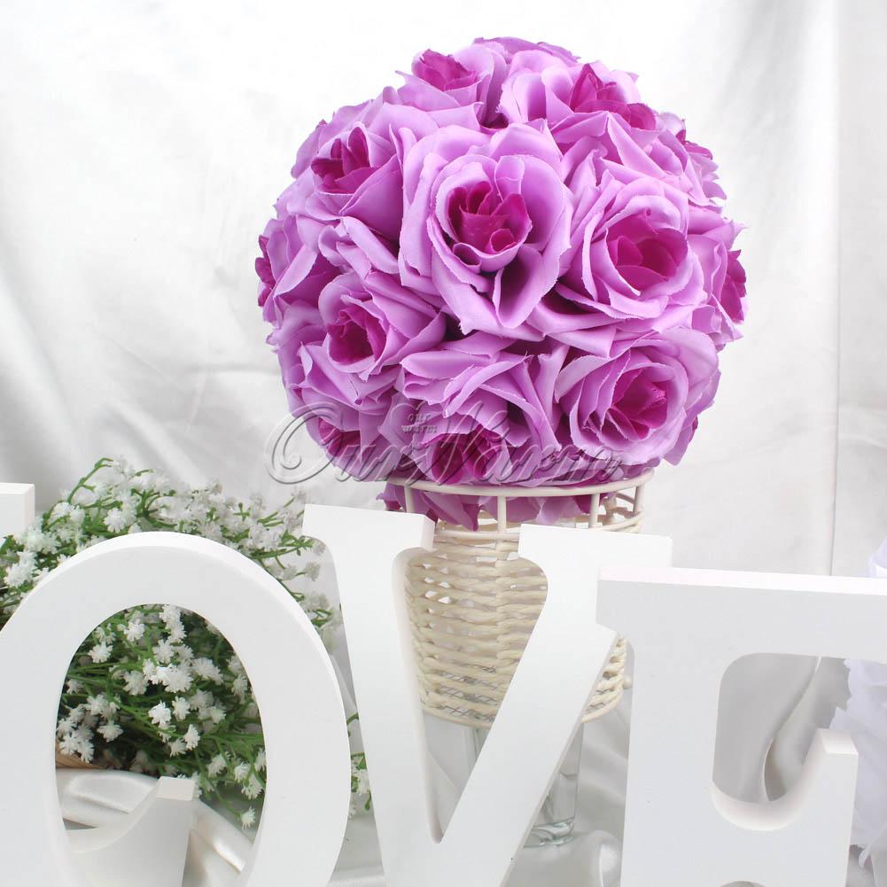 10×Rose Flower Ball Artificial Pomander Bouquet Kissing Ball Wedding ...