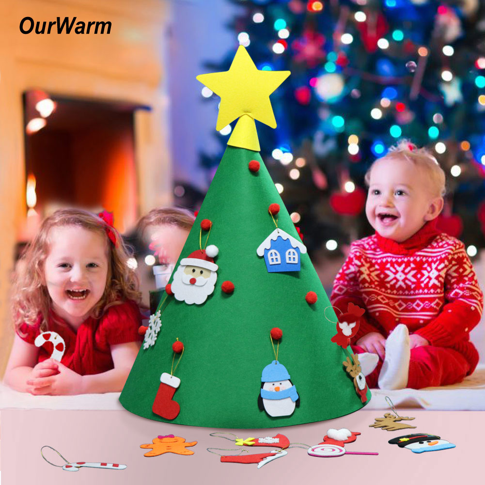 Toddler Christmas Tree Craft.Details About Ourwarm Diy Toddler Christmas Tree 3d Cone Craft Felt Xmas Home Kids Gifts