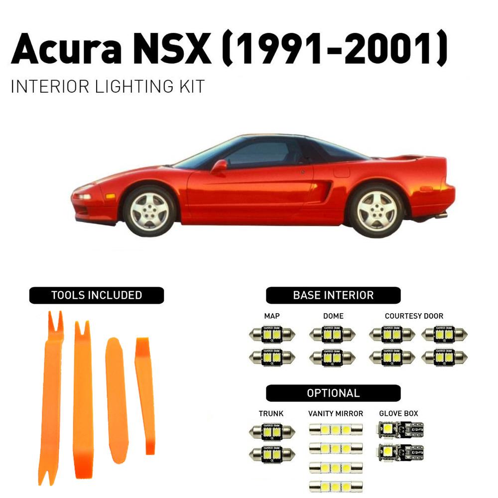 14Pcs White Interior LED Bulb Car Lights Package Kit For