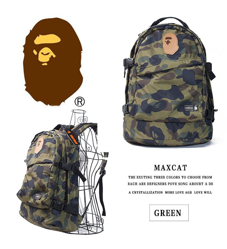 40a3bac4e52b APE A Bathing Ape Bape Camouflage Army Backpack High Quality Laptop ...