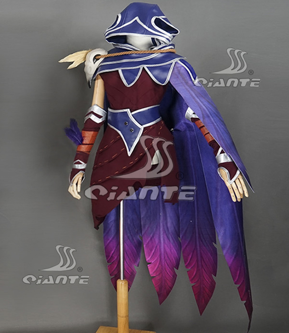 Details about League of Legends Newest Skin LOL Xayah Costume Cosplay Comic  Con Fancy Dress