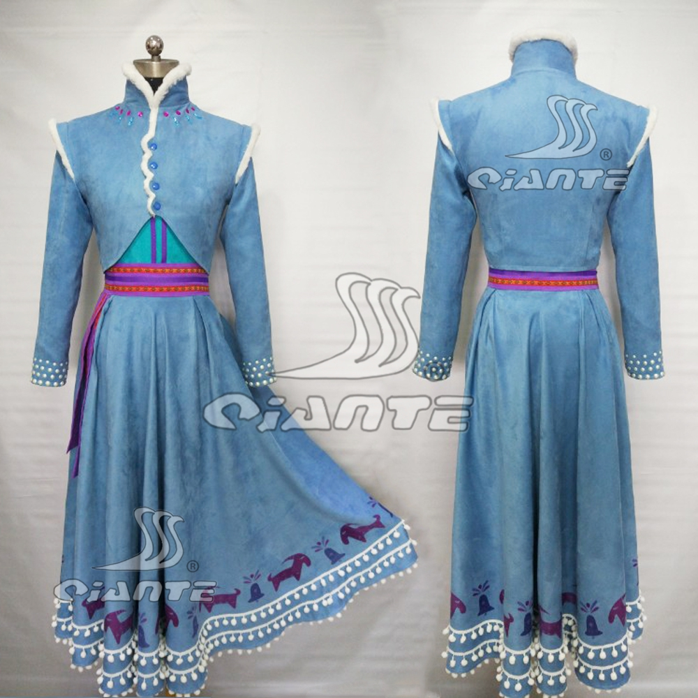 Frozen 2 Olaf's Frozen Adventure Anna Princess Dress Cosplay