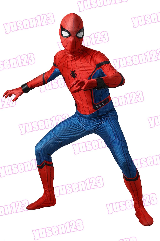Spider-Man:Homecoming Spiderman FullBody Costume Halloween Cosplay ...
