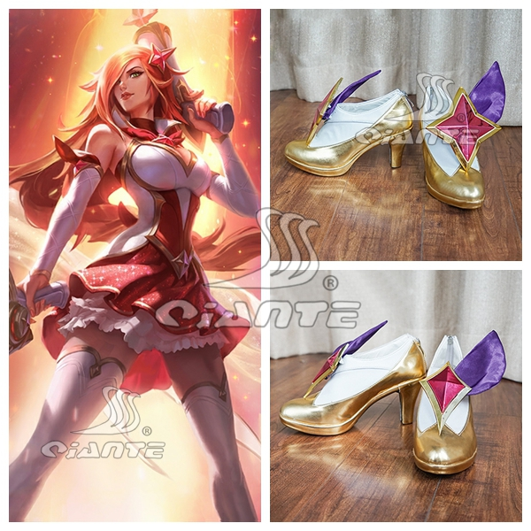 New LOL League of Legends New Star Guardians Jinx New Skin Cosplay Shoes Boots