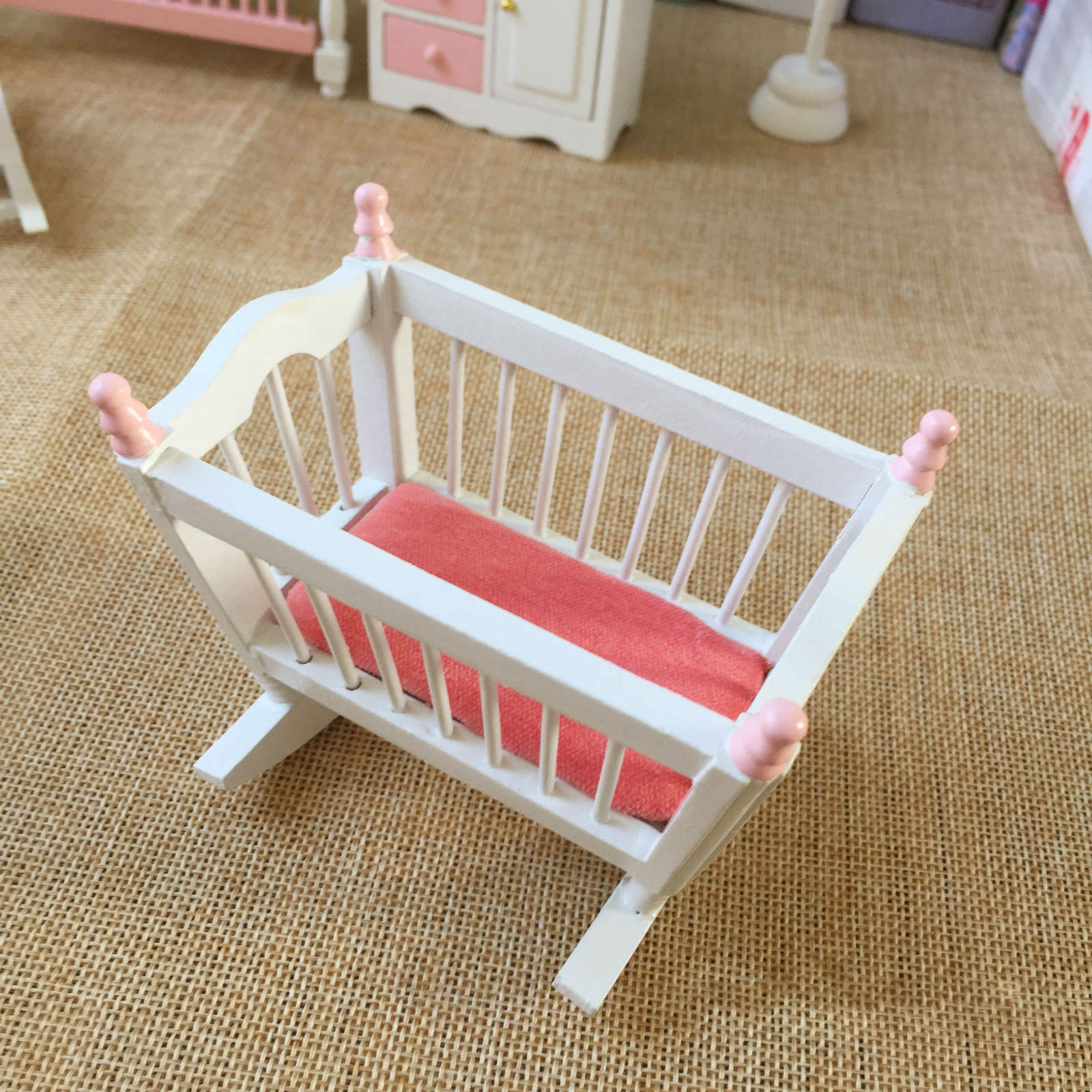 Dollhouse 6Pcs Kids Baby Room Furniture Set 1:12 Miniature Accessories