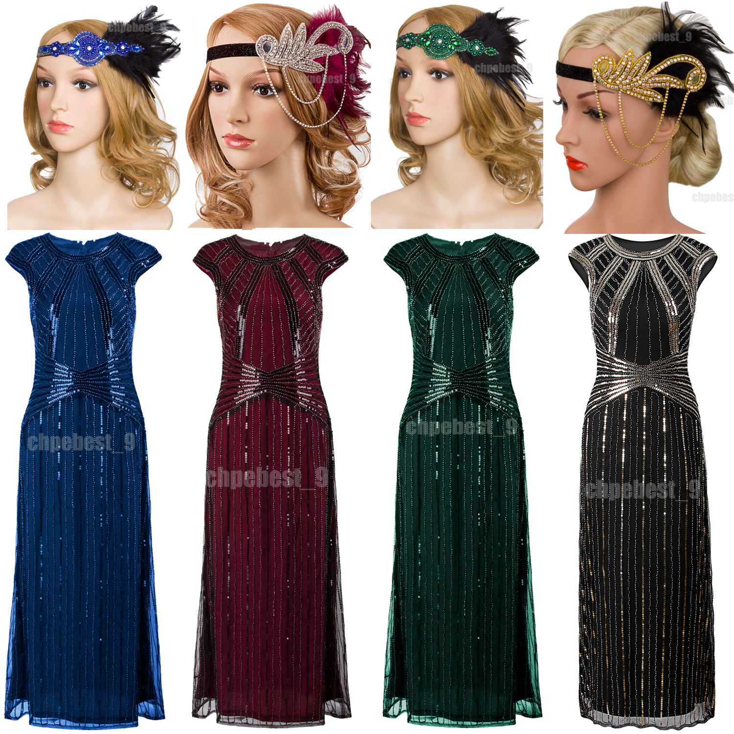 Gatsby Dresses: 1920s Flapper Dress Gatsby 20s Roaring Charleston Fringe