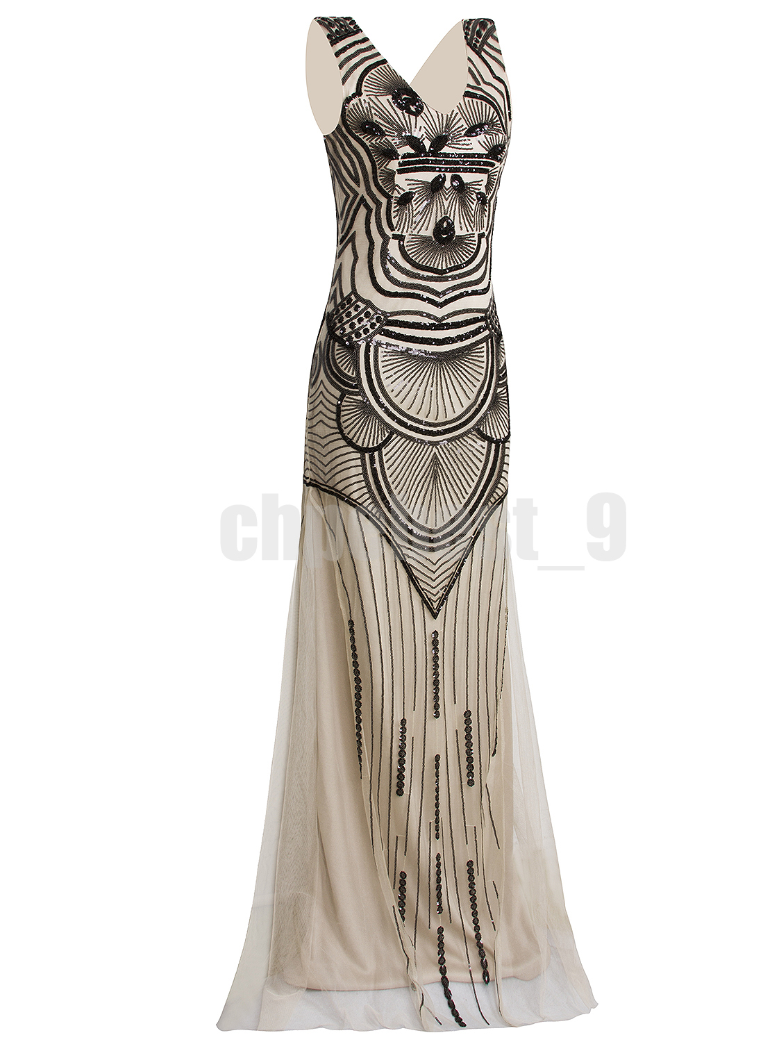 082b532c564 Ball Gown 1920s Flapper Dress Gatsby Party Wedding Evening Dresses Plus Size  XXL
