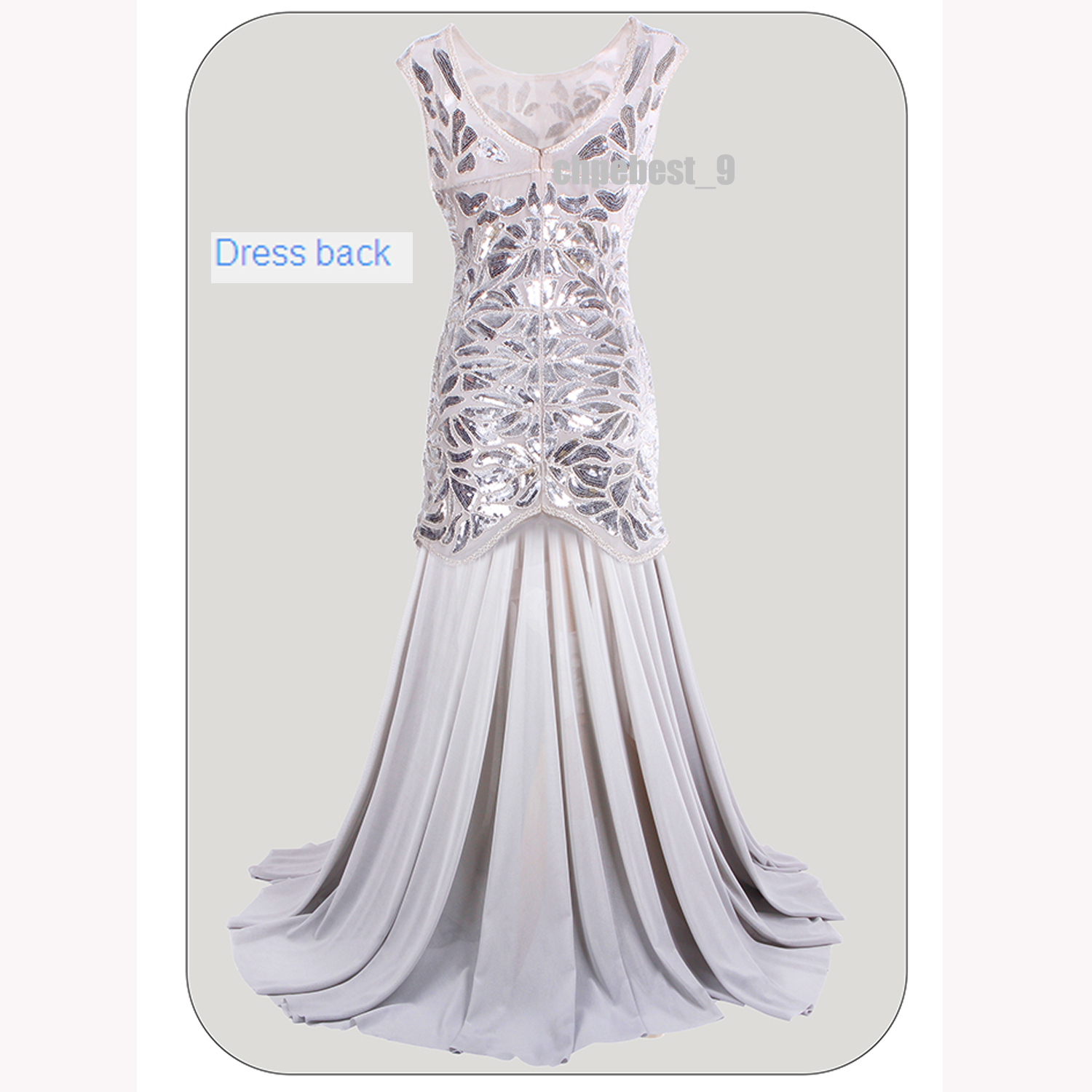 Great Gatsby 1920s Flapper Dress Long Evening Bridesmaid Prom Gown ...