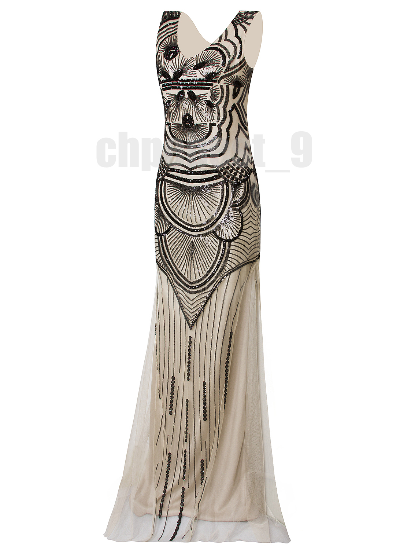 Ball Gown 1920s Flapper Dress Gatsby Party Wedding Evening Dresses ...