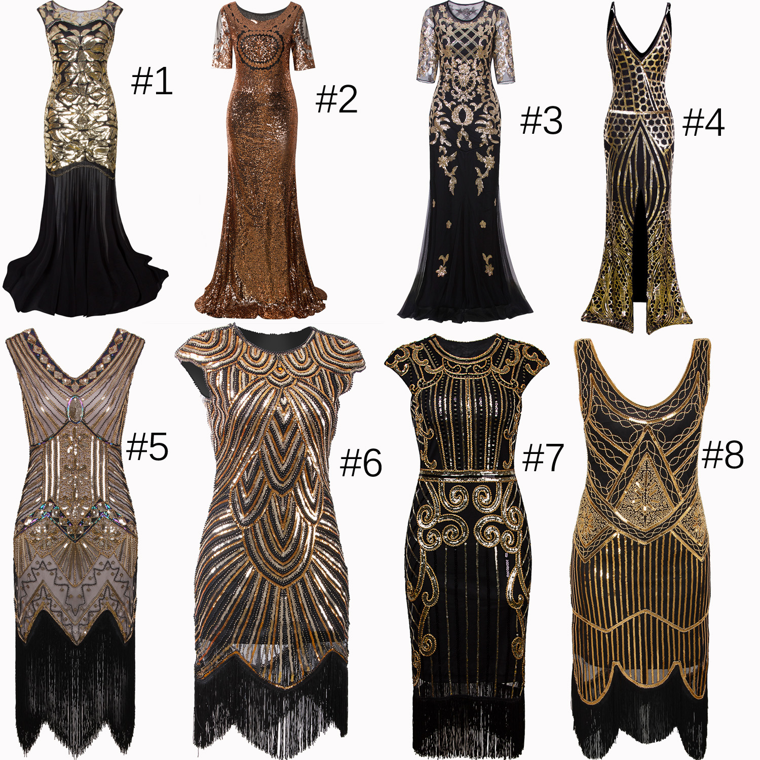 Details about Vintage Style 1920s Dress Flapper Costume 20s Evening Gown  Party Cosplay Dresses