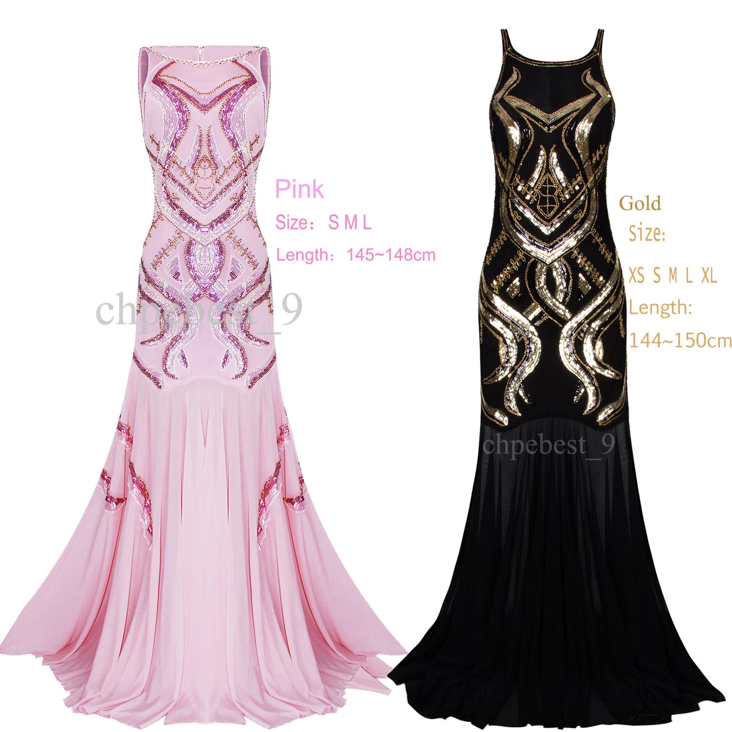 Image Is Loading Long Prom Ballgown Dresses 1920s Flapper Dress Wedding
