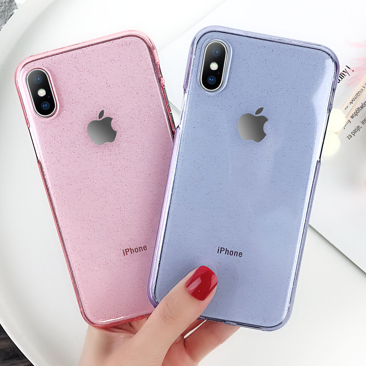 Women Bling Glitter Shockproof Silicone Case Cover For Apple iPhone X 7 8 6  Plus 7c56d67b7e