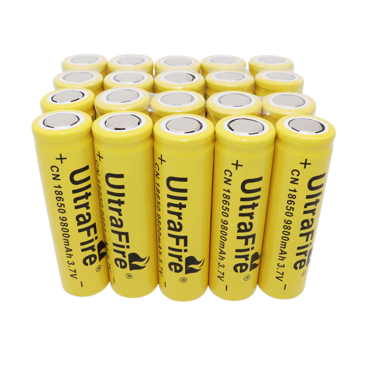 3 7V 9800mAh 18650 Li-ion Rechargeable Battery Flat Top for