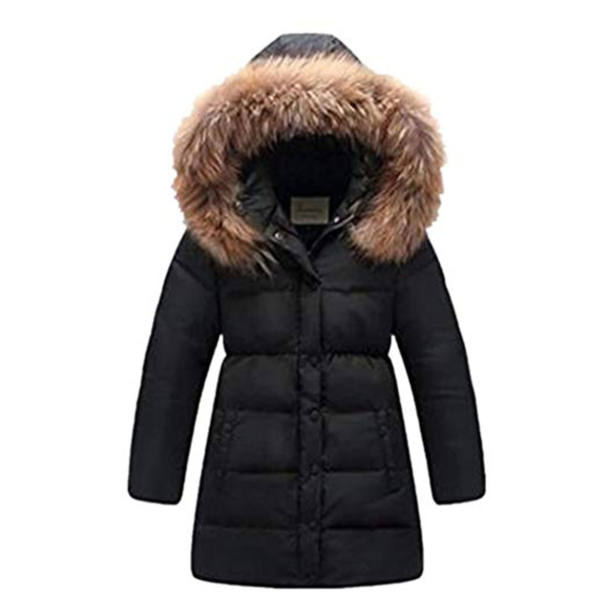 d25a9277dd72 Details about Girls Winter Down Jacket Thick Hooded Kids Outwear Warm Coat  Fur Collar Parka
